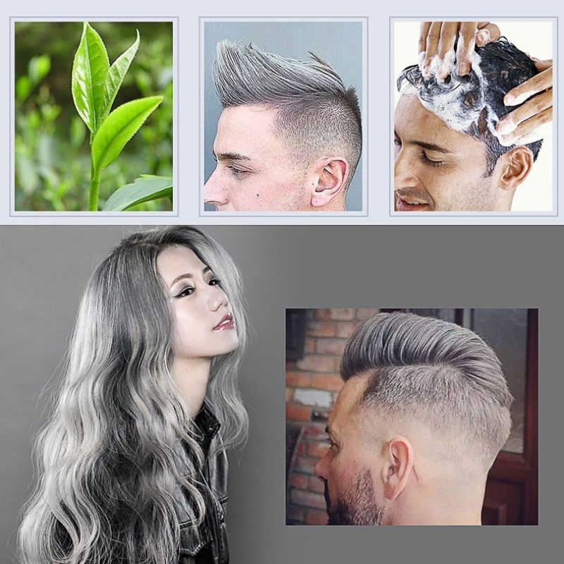 7-Colors Unisex Temporary Modeling DIY Hair Color Wax Mud Dye No Damage  Hair Color Cream Easy To Wash Out Hair Styling TSLM1