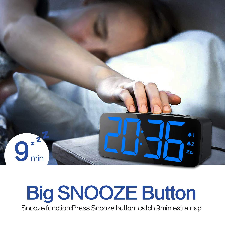 Digital Alarm Clock New Upgraded 6 3 Inch Large Led Display Digital Alarm Clock With Big Number 6 Level Adjustable Brigh in Alarm Clocks from Home Garden