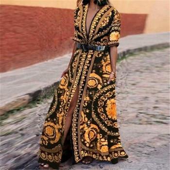 4ac4e2da6c Nueva moda de mujer verano corto manga larga Maxi vestido de noche Fiesta  Club playa vestido vestidos