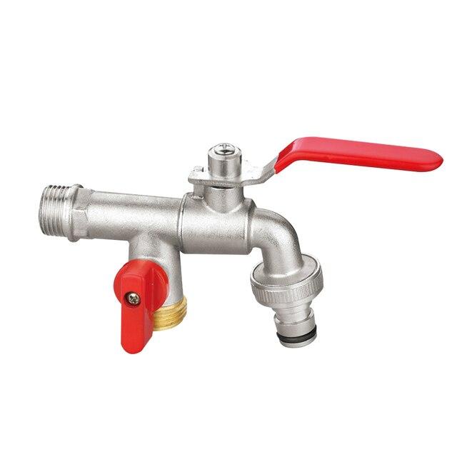 Водопроводный кран из нержавеющей стали, 1 шт., легко устанавливается, водопроводный кран двойного назначения, садовый кран для домашнего использования, садовый кран