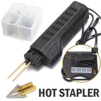 220 250V Car Bumper Fender Fairing Welder Gun Plastic Repair Kit Suitable for repair plastic with 200 Staple Accessories
