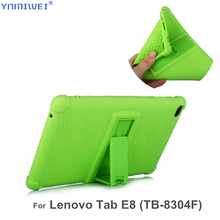 Silicon Case For Lenovo Tab E8 TB-8304F Tablet stand cover Soft case