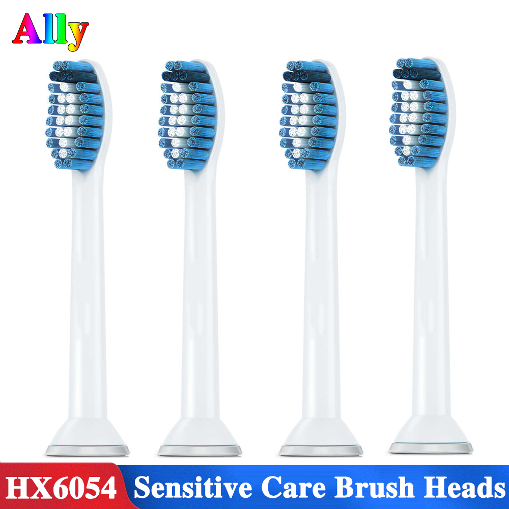 4PCS HX6053 Electric toothbrush heads Replacement for philips sonicare Sensitive care HX6730 HX3226 HX6721 toothbrush heads image