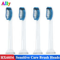 4PCS HX6053 Electric toothbrush heads Replacement for philips sonicare Sensitive care HX6730 HX3226 HX6721 toothbrush heads