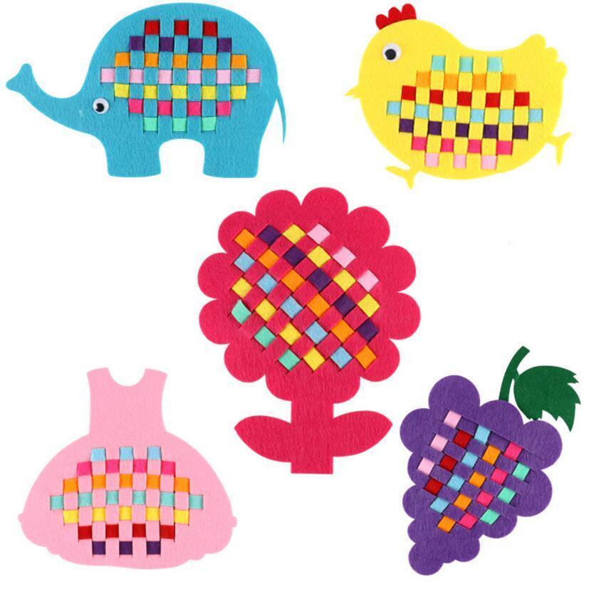 Montessori 1pcs Kindergarten Diy Crafts Handmade Weave Cloth Toys For Children Oyuncak Juguetes Brinquedos Brinquedo Oyuncakla