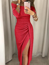 Women Boho Long Maxi Dress Evening Party Beach Dress Side Slit Sundress недорго, оригинальная цена