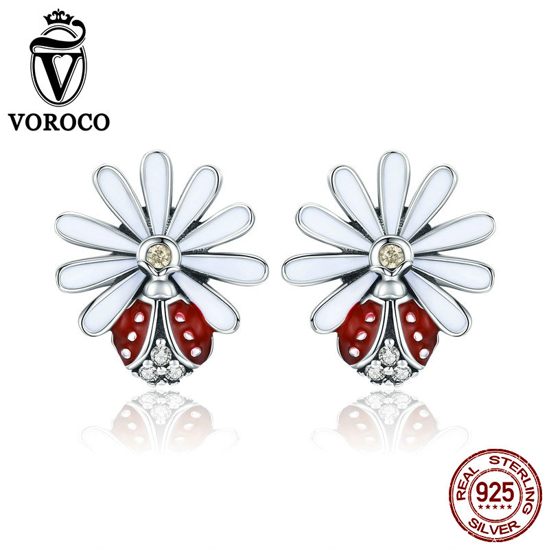 Earrings Jewelry Flower 925-Sterling-Silver Women Party for Wedding Fashion Chic Gift