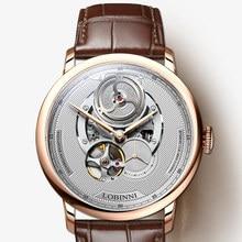 Switzerland Luxury Brand LOBINNI Top Japan Import Auto Mechanical Mens Watches Sapphire 50M Waterproof relogio Clock L16020