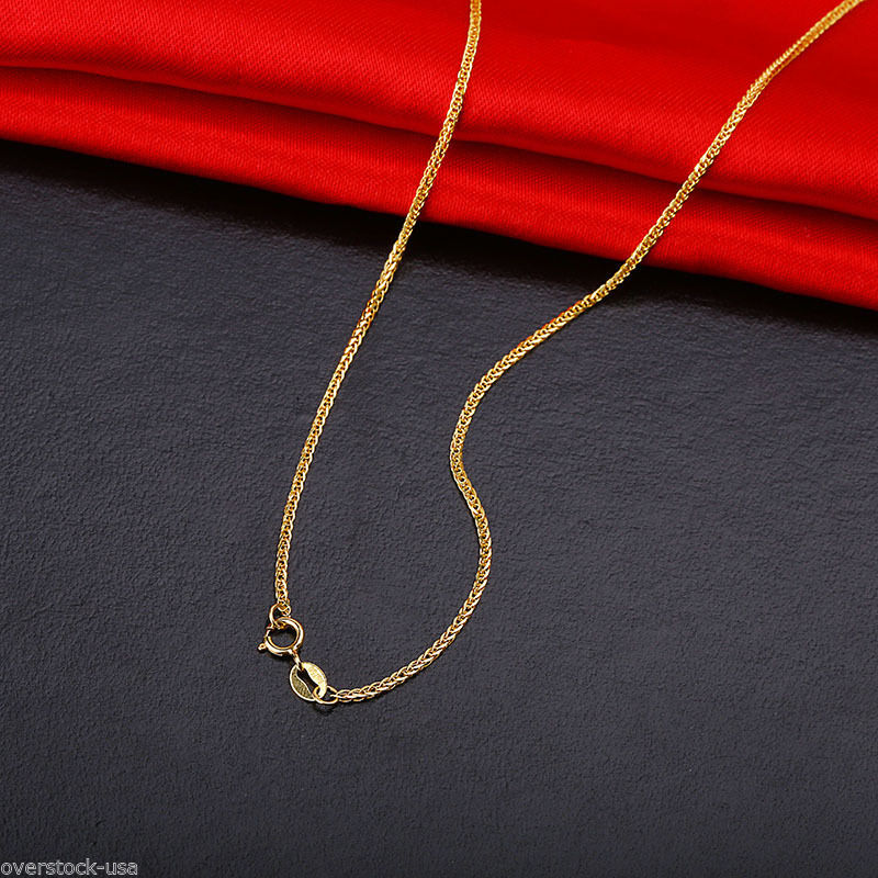 J.Lee 18INCH Solid 18K Yellow Gold Necklace Special Foxtail Chain / 1.98gJ.Lee 18INCH Solid 18K Yellow Gold Necklace Special Foxtail Chain / 1.98g
