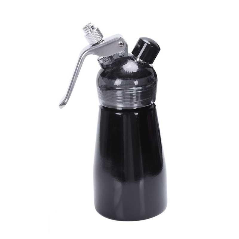 Distribuidor de creme de alumínio 250 ml, liquidificador gourmet, bocal decorativo de aço inoxidável e tubo plástico da pastelaria