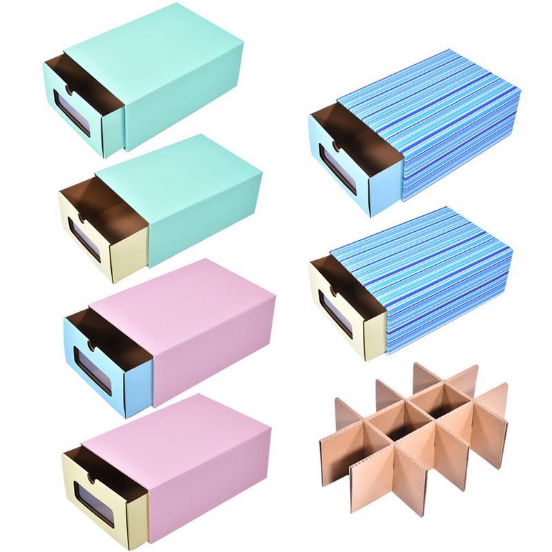 Color Desktop Storage Box Thick Corrugated Paper Drawer
