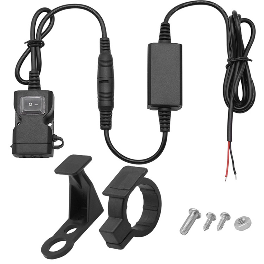 TiOODRE 5V 3.1A Outlet Power Socket Power Adapter Motorcycle Charge <font><b>Motor</b></font> Car DC Dual <font><b>USB</b></font> <font><b>Charger</b></font> Switch for Car Truck ATV Boat image