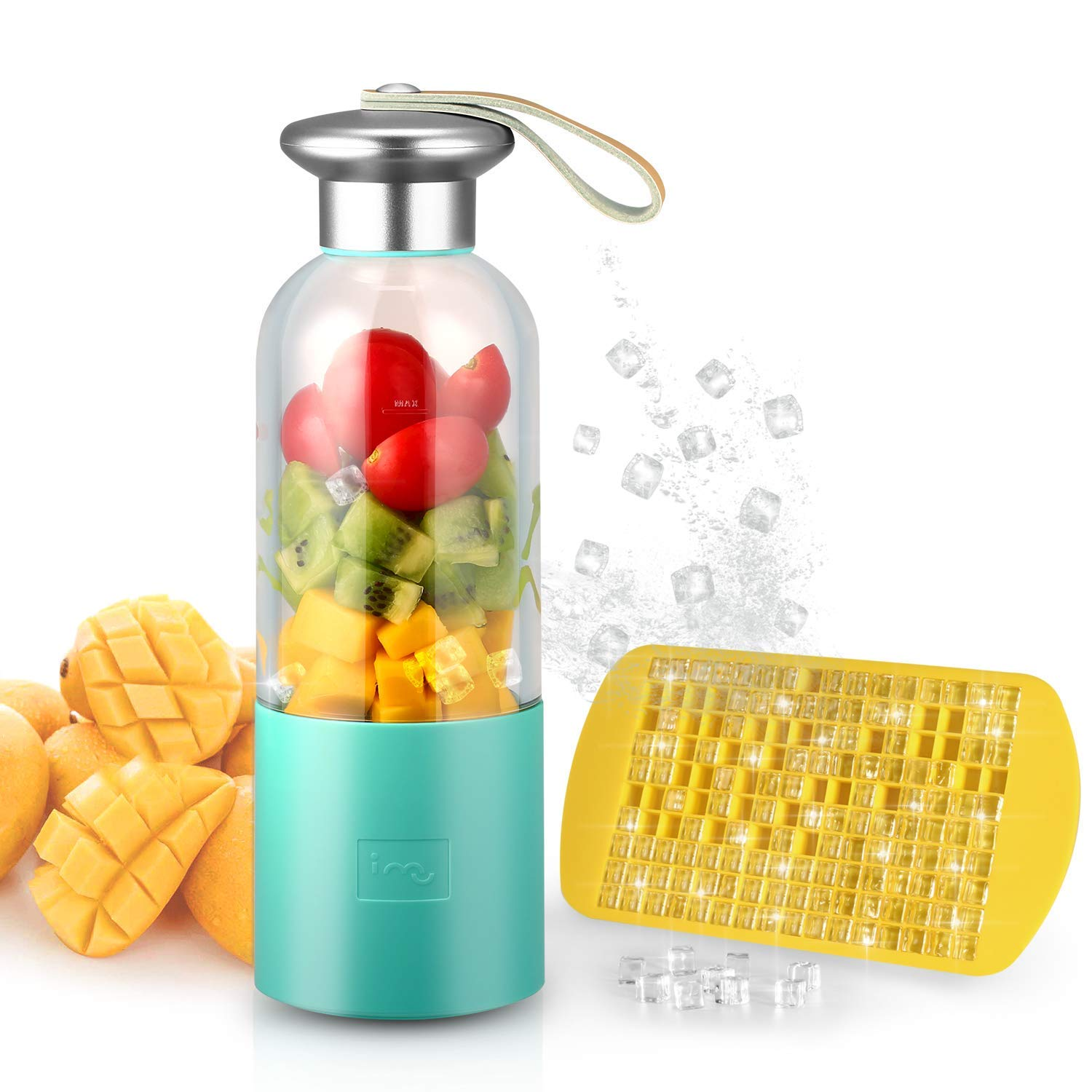 SANQ Portable Smoothie Blender Small Blender Usb Rechargeable Single Served For Shakes And Smoothies, Fruit Mixer Machine For SANQ Portable Smoothie Blender Small Blender Usb Rechargeable Single Served For Shakes And Smoothies, Fruit Mixer Machine For