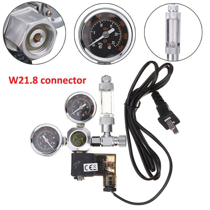 220 V wodoodporne akwarium CO2 Regulator W21.8 magnetyczny elektromagnetyczny zawór zwrotny akwarium licznik bąbelków Fish Tank narzędzie CO2 kontroli w Sprzęt CO2 od Dom i ogród na  Grupa 1