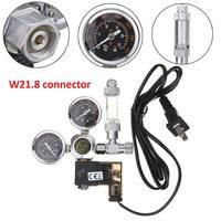 220V Waterproof Aquarium CO2 Regulator W21.8 Magnetic Solenoid Check Valve Aquarium Bubble Counter Fish Tank Tool CO2 Control