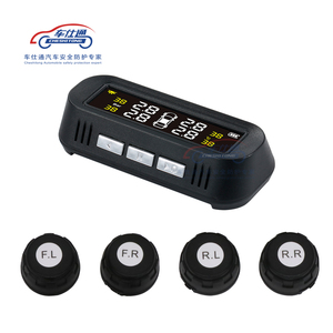 Image 2 - Car TPMS tire pressure monitoring system Solar power TPMS support English voice Internal External tire pressure sensor