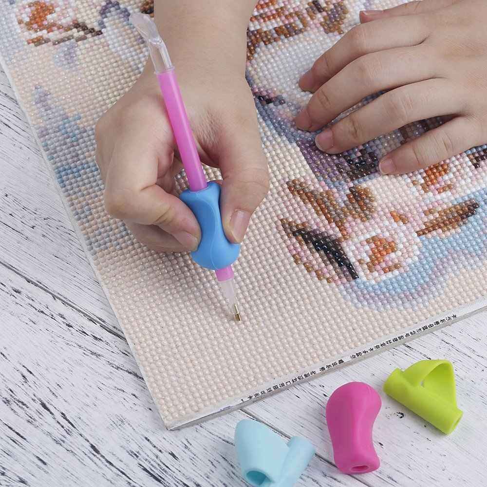 1 pièces 5D outils de peinture au diamant perceuse stylo poignée pour un meilleur confort ergonomique poignée souple diamant peinture accessoires de stylo collant