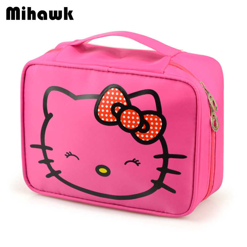 5583de051 Detail Feedback Questions about Mihawk Girl's Hello Kitty Cosmetic Bag Cute  Travel Makeup Organizer Case Beautician Beauty Suitcase Accessories  Supplies ...