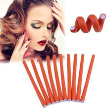 10pcs Hair Rollers Universal Rubber Mini Hair Curler Bar DIYHairdressing  Styling Hair Curler Roller Tool(Random color)