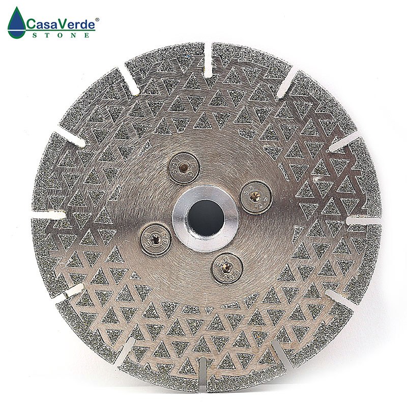 DC-ESBF02 Segmented Tyarbor M14 Diamond Dry/wet Cutting 115mm Electroplated Saw Blade For Cutting Marble