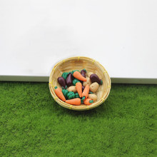 3 Pcs/lot Funny Dollhouse Miniatures Accessories Mini Vegetable Food Doll Room Doll House Kitchen Decor Figure Toys(China)
