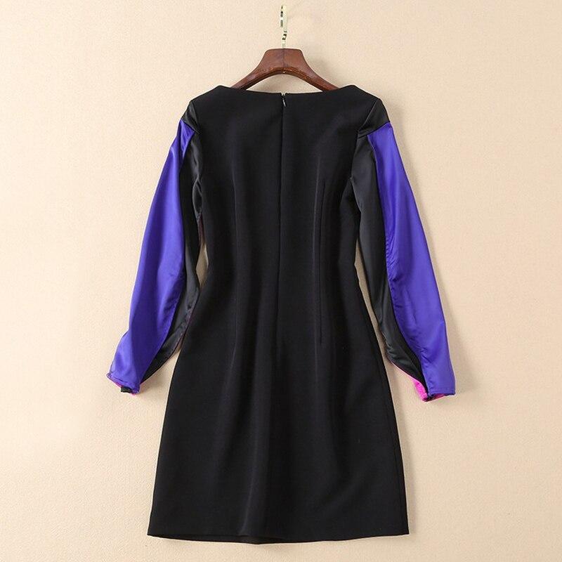 De À Lanterne Robe Longues Qualité Mini Piste Casual Haute D'hiver 2019 Manches Club Mode Serré Noir Femmes Chemise gYdRdqnrB