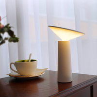 Art Deco Touch Switch 3 Modes Table Lamp LED Flap Rechargeable Stepless Dimming Reading USB Led Desk Lamp for Foyer Bedroom
