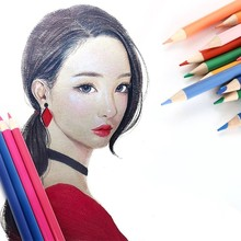 лучшая цена NEW Durable Genuine 120 cute oily color cartoon water-insoluble graffiti lead school-supplies pencil pen Affordable