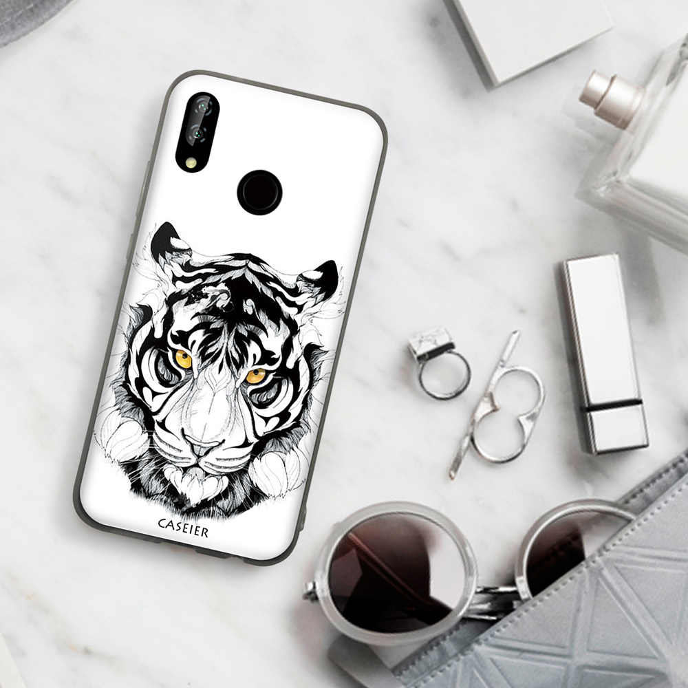 CASEIER Tattoo Animal Cool Scrub Phone case For Huawei P20 P9 P10 Mate20 Lite Pro TPU Soft Cover For Honor 8 9 10 For Nova 3i