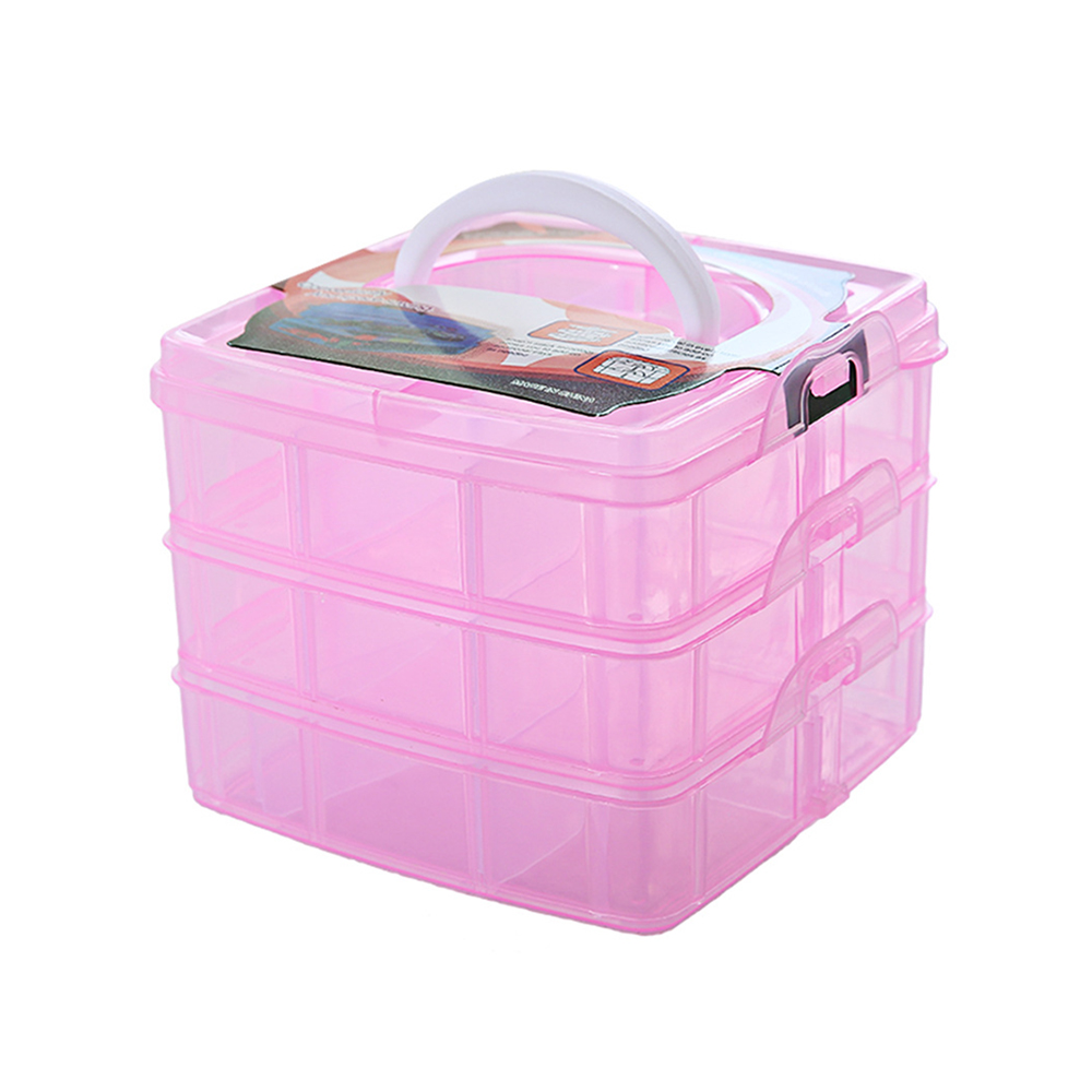 Bins-Container Storage-Case Beads-Box Adjustable-Tool Plastic Portable Jewelry Three-Layers