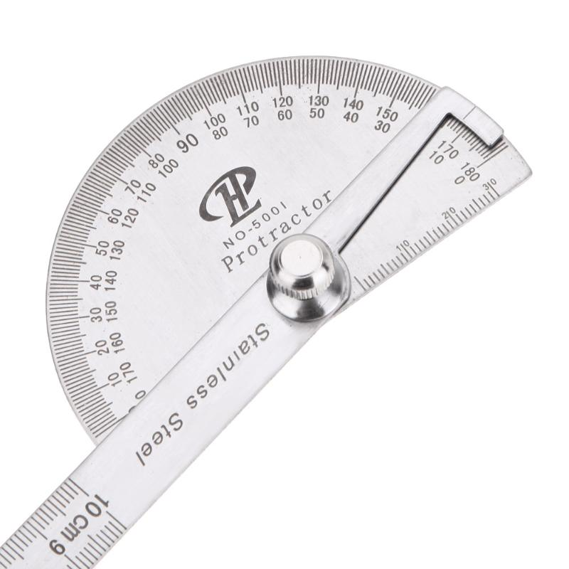 Stainless Steel 0-180 Rotary Degree Angle Rotary Protractor Angle Finder Measuring Ruler Adjustable Measure Tool Measure Tools