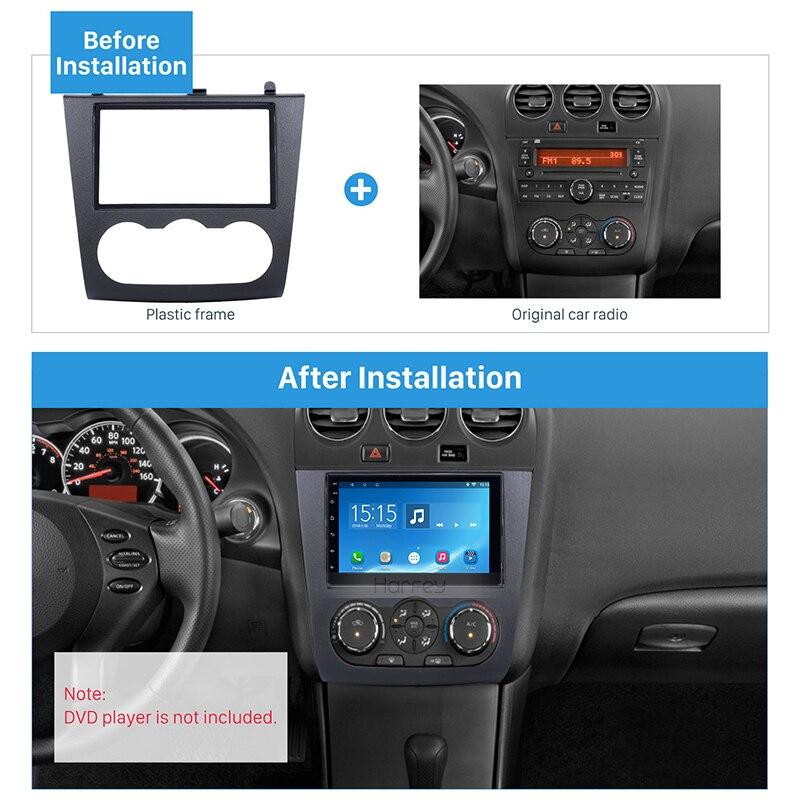 Harfey voiture Auto Radio installer cadre DVD Fascia Altima Kit de montage pour Nissan 2006 2007 2008 2009-2012 lecteur Audio panneau plaque