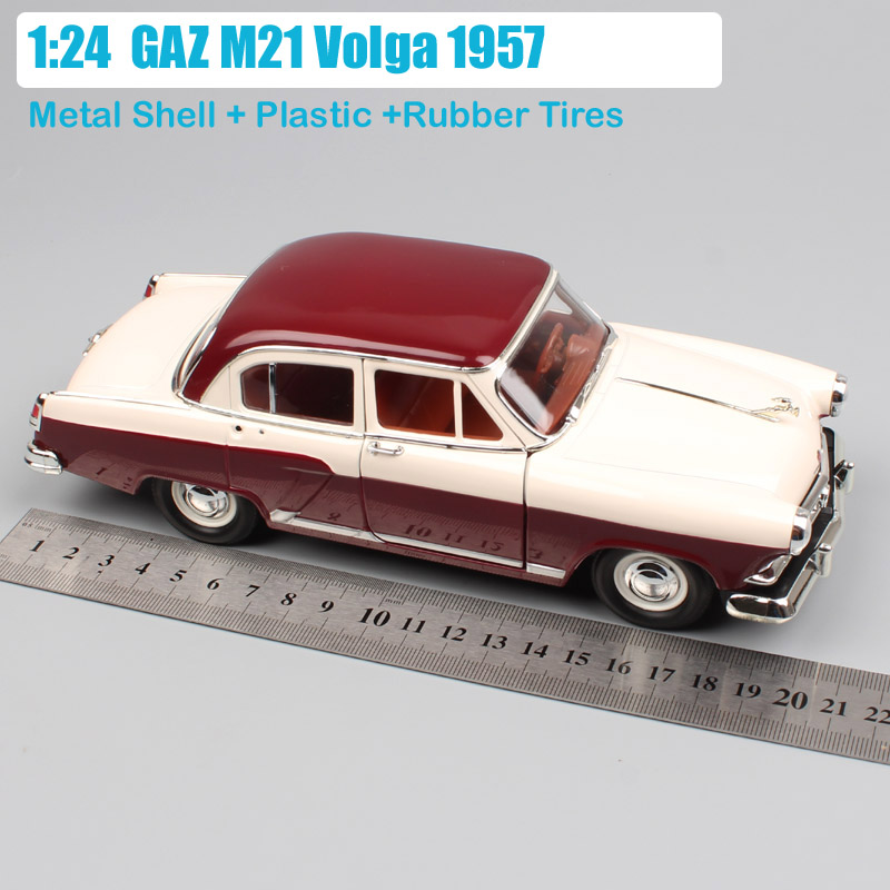 Kids Road Signature 1/24 Gorky GAZ M21 Metal Miniature Vintage Diecasts & Toy Vehicles Volga Cars Model Toys For Boys Collection(China)