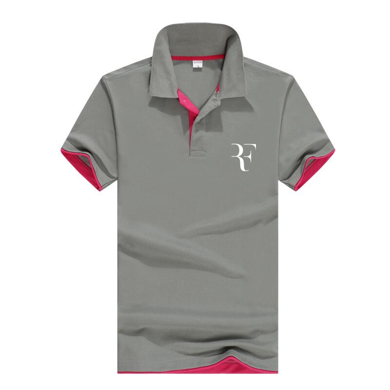2019 fashion Roger Federer perfect logo printed   polo   RF New men high quality social   Polo   shirts   Polo   Shirt for women and mens'
