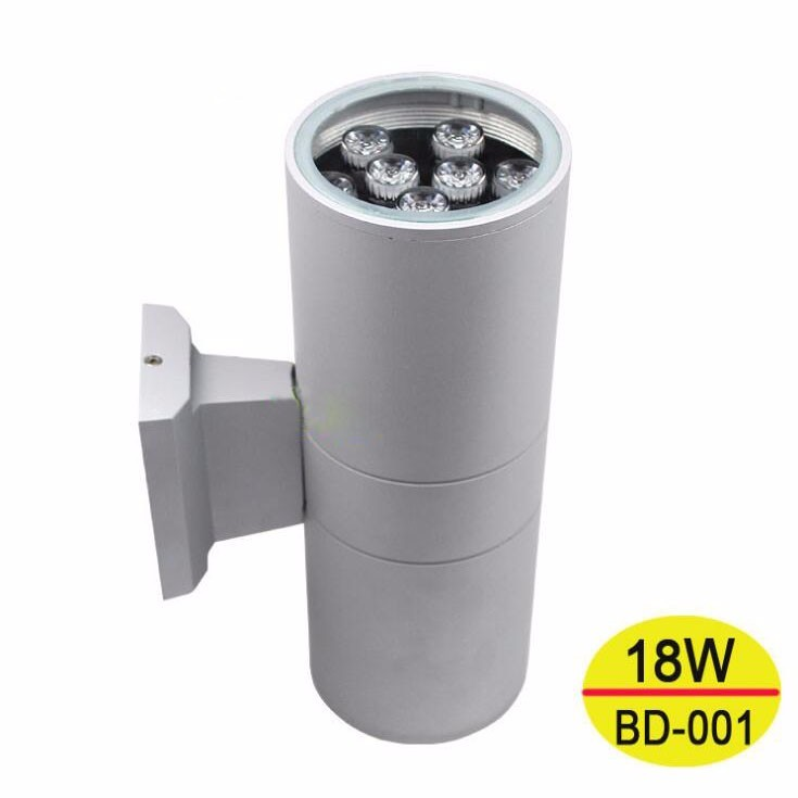 5pcs/lot 18W Led Porch Lamp AC 85-265V Double Slider Wall Lamp Outdoor Lighting 9W*2 Wall Light Decoration Waterproof Grey Black black led wall light waterproof ip65 stainless steel up down gu10 double wall lamp indoor outdoor wall lamp ac 85 265v