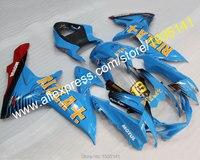 Лидер продаж, для Suzuki GSXR600 GSXR750 K11, 11, 12, 13, 14, 15, 16 лет GSX R600/750 голубой rizla + мотоцикл обтекатель Kit (литья под давлением)