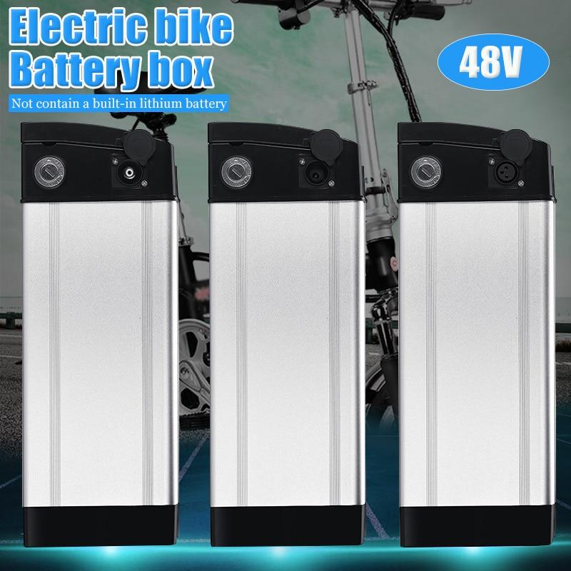 48 V vélo de voiture électrique boîte de batterie au Lithium pliant vélo batterie de mer boîtier de batterie en alliage d'aluminium coque de support 18650 - 2