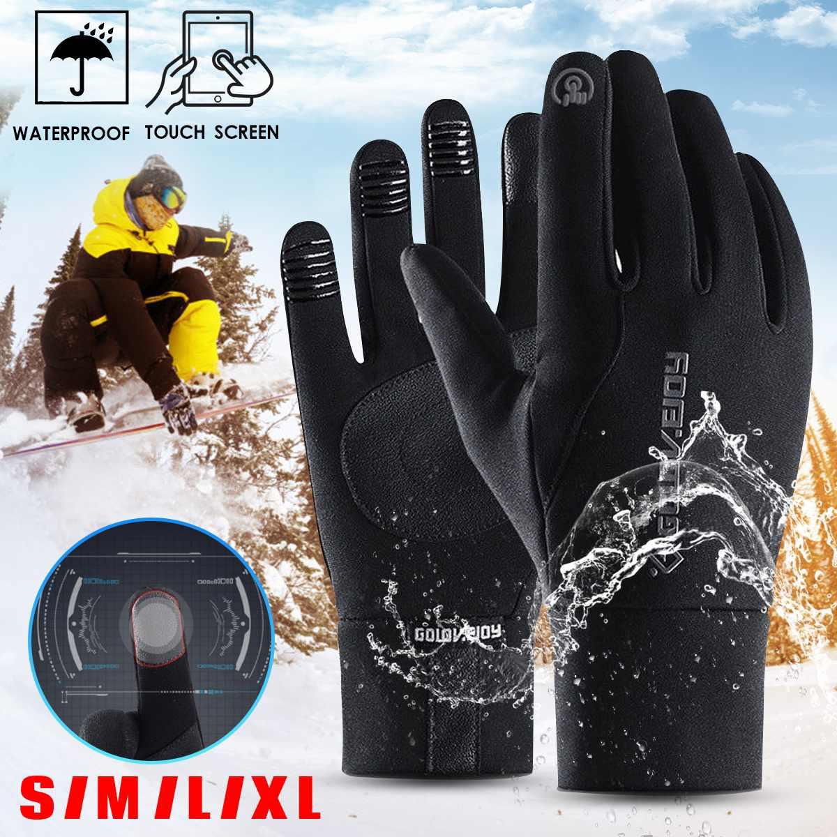 Motorcycle Gloves Winter Waterproof Windproof Guantes Moto Full Finger Outdoor Sport Glove Motocross Motorbike