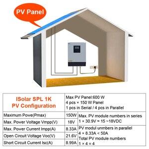 Image 5 - EASUN POWER onduleur solaire hybride 1kva à onde sinusoïdale Pure, contrôleur de Charge solaire, PWM intégré, à usage domestique