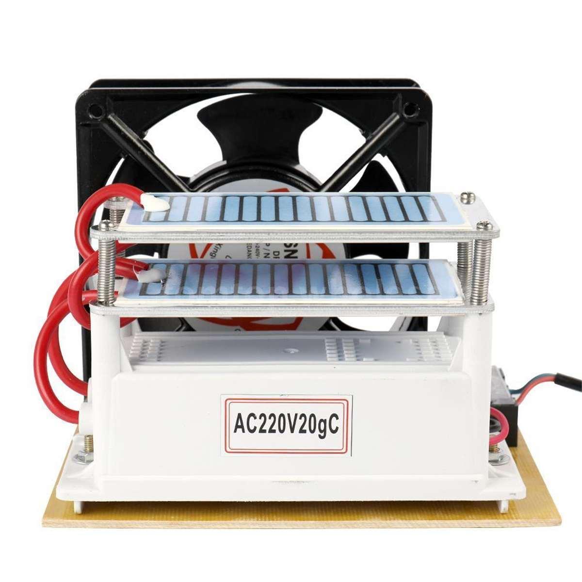 220V 10g Portable Ceramic Ozone Generator Double Integrated Long Life ozonator