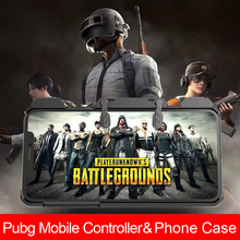 Pubg Mobile Case for iPhone X and Free Fire Aim Controller Shooting Game Shockproof Solid Cover 6 6s 7 8 XS