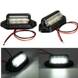 Номер поворотника номерных знаков свет лампы для лодки мотоцикл Автомобильная самолет RV прицеп 12 В 6 светодиодов