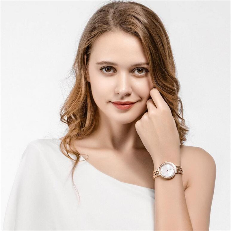 Xiaomi TwentySeventeen Crystal Quartz Wrist Watch for Women 64 Artificial Gem Wristwatch Ladies Fashion Christmas Gift
