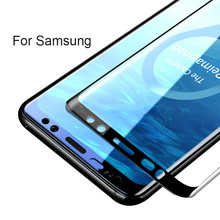 3D S9 plus For Samsung Galaxy S8 Case Cover Tempered Glass For Samsung Galaxy S7 S9 s8 S6 Edge note8 Plus s8plus Protective Film все цены