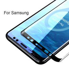 3D S9 plus For Samsung Galaxy S8 Case Cover Tempered Glass For Samsung Galaxy S7 S9 s8 S6 Edge note8 Plus s8plus Protective Film(China)