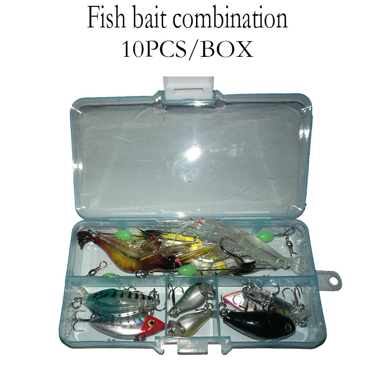 10PCS/Box Fishing Lure ,Fishing bait suitable for different sites,Fishing bait box assembly