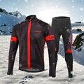 Lixada мужской зимний термальный флисовый комплект одежды для велоспорта с длинным рукавом  ветрозащитная куртка для велоспорта  куртка с 3D по...