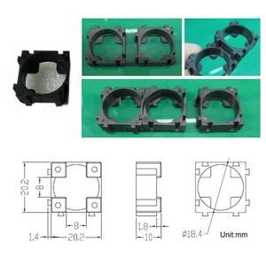 Image 5 - Soporte cilíndrico de seguridad para batería, soporte antivibración de 100 Uds., soporte cilíndrico de 22x22mm para pc + pp + gp, soporte para baterías de litio