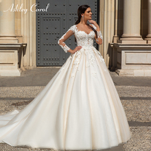 Ashley Carol Wedding Dress 2019 Long Sleeve Bride Dresses