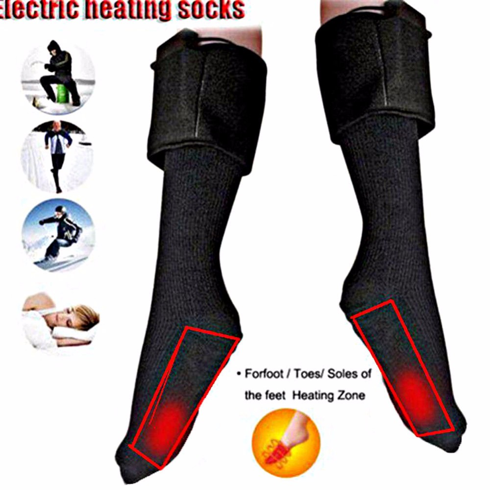 Mens Comfy Double Layer Cushioned Sports Cyleing Hiking 5 Finger Toe Socks BLACK
